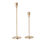 Avri Taper Candle Holder in Brass, Large