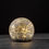 Avalon Solar Crackled Glass Globe, Medium