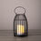 Endora Metal Bird Cage Lantern with Solar Candle
