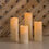 Sonora Slim Outdoor Resin Candles with Remote, Set of Four