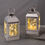 Adoria Silver Metal Lantern with Fairy Lights, Set of 2