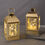 Adoria Gold Metal Lantern with Fairy Lights, Set of 2