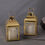 Cherish Gold Metal Lantern with Flameless Candle, Set of 2
