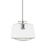 Alton Pendant with matching Rods and Schoolhouse Glass Shade, Chrome