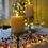 """Infinity Wick Champagne Gold Textured Pillar  Candles, 3"""" Multipack, Set of 3"""