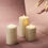 """Infinity Wick Sparkling Pearl Candle Set, 3"""" Dia"""