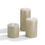 """Infinity Wick Sparkling Ivory Textured Pillar Candles, 4"""" Multipack, Set of 3"""