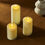 "Infinity Wick Collection - Ivory Candle Set, 3"" Dia"