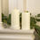 """Infinity Wick Ivory 4x8"""" Candles, Set of 2"""