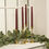 "Infinity Wick Collection - Burgundy Distressed 11"" Taper Candles, Set of 4"