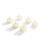 Infinity Wick Collection - Ivory Tea Light Candles, Set of 6
