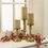 "Infinity Wick Collection - Matte Gold 3"" Candles, Set of 3"