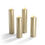 Infinity Wick Collection - Matte Gold Slim Pillar Candles, Set of 4