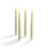 """Infinity Wick Collection - Matte Gold Distressed 10"""" Taper Candles, Set of 4"""