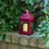 Rory Small Outdoor Red Metal Lantern