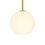 "Aria 8"" Opal Globe Pendant, Satin Brass"