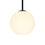 "Aria 8"" Opal Globe Pendant, Matte Black"