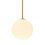 "Aria 10"" Opal Globe Pendant, Satin Brass"