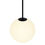 "Aria 10"" Opal Globe Pendant , Matte Black"