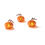 Brynn Mini LED Pumpkins, Orange, Set of 3