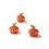 Selby Mini LED Pumpkins, Orange, Set of 3