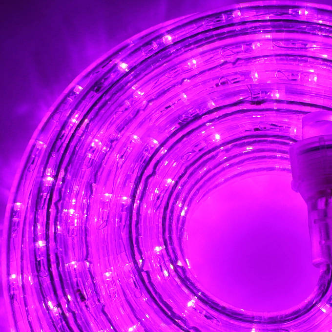 Super Bright Plasma Expandable Led Plug In Rope Lights Purple