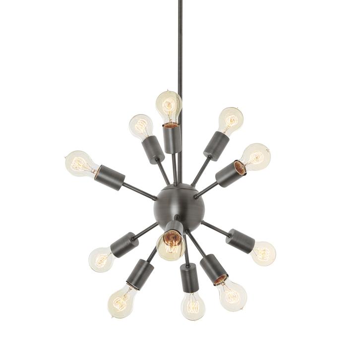12 Light Pewter Sputnik Chandelier