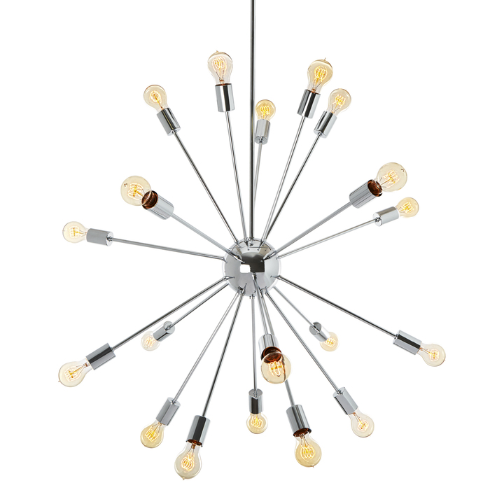 20-Light Chrome Sputnik Chandelier