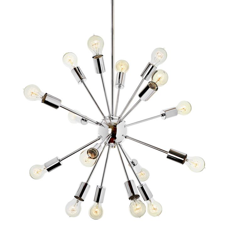 16-Light Chrome Sputnik Chandelier