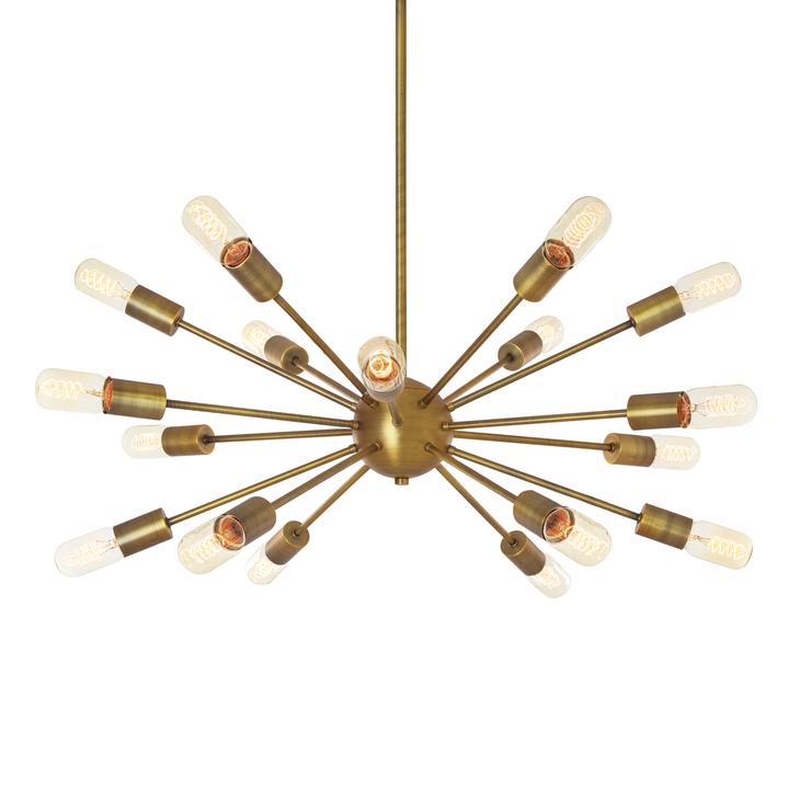 18-Light Aged Brass Sputnik Chandelier