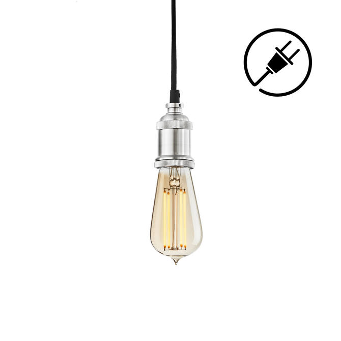 Alton Plug-In Pendant, Satin Nickel