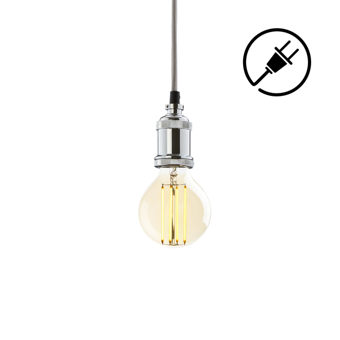 Alton Plug-In Pendant, Chrome