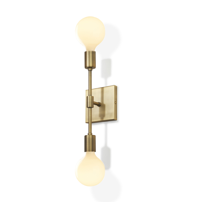 Prospect 2-Light Wall Sconce, Aged Brass