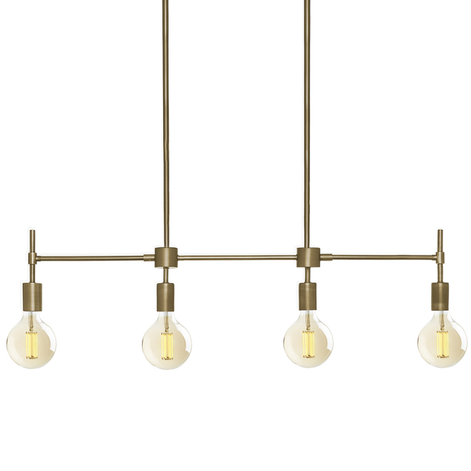 Prospect 4-Light Linear Pendant, Aged Brass