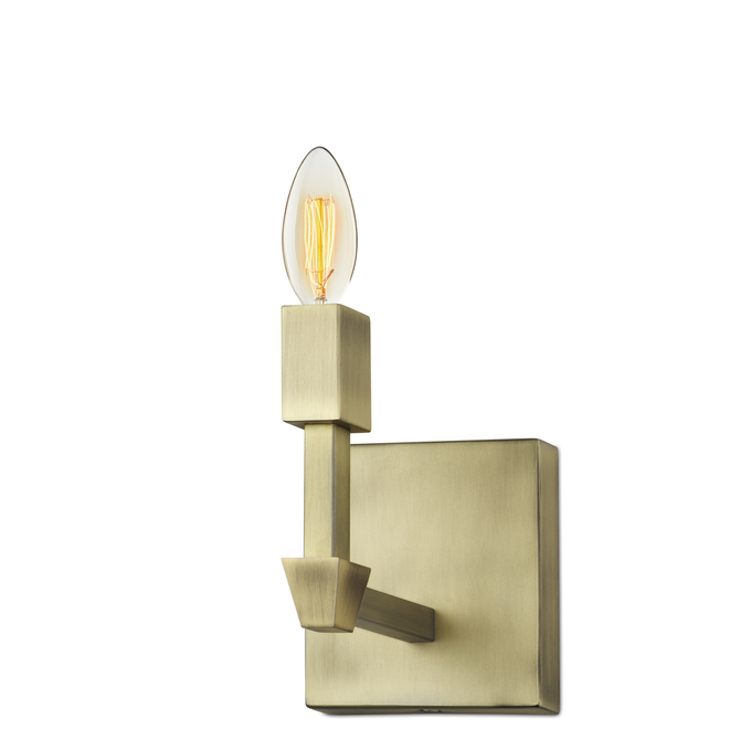 Kingston Wall Sconce, Aged Brass