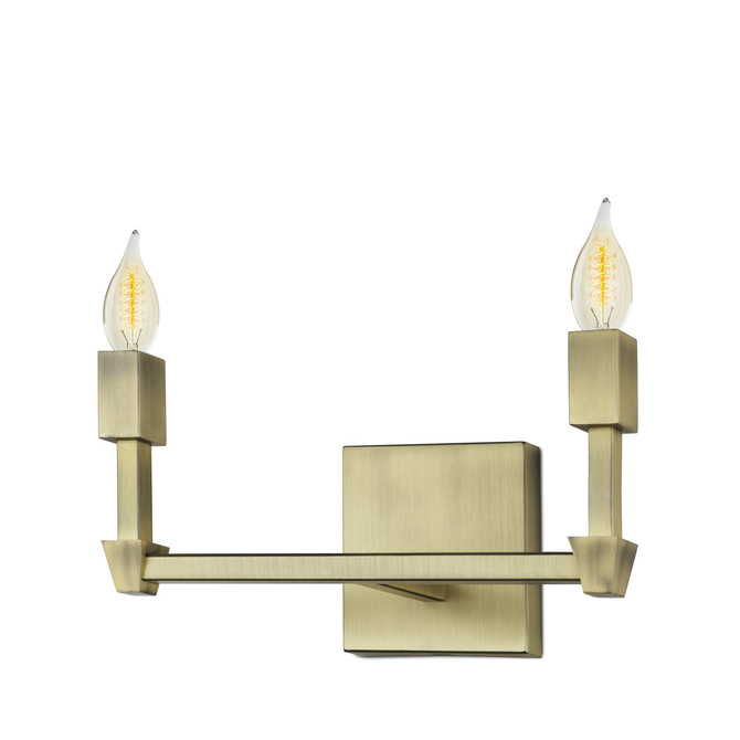 Kingston 2-Light Vanity, Aged Brass