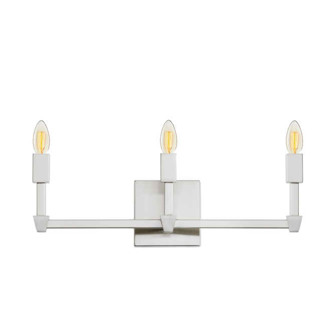 Kingston 3-Light Vanity, Satin Nickel