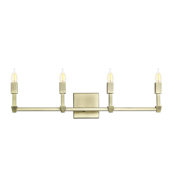 Kingston 4-Light Vanity, Aged Brass