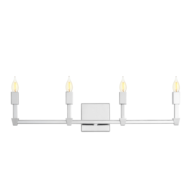 Kingston 4-Light Vanity, Polished Nickel