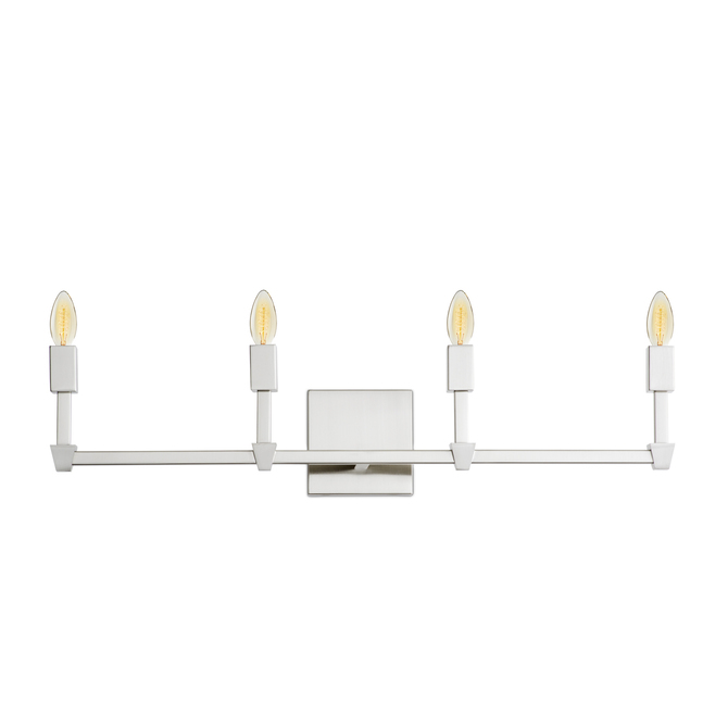 Kingston 4-Light Vanity, Satin Nickel
