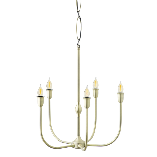 Arden 5-Light Chandelier, Aged Brass