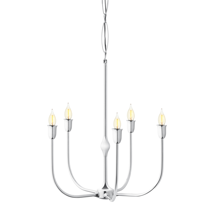 Arden 5-Light Chandelier, Polished Nickel