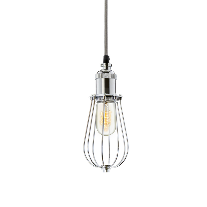 Alton Pendant with Edison Raindrop Cage, Chrome