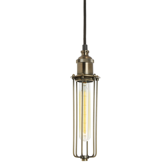 Alton Pendant with Edison Slim Cage, Bronze