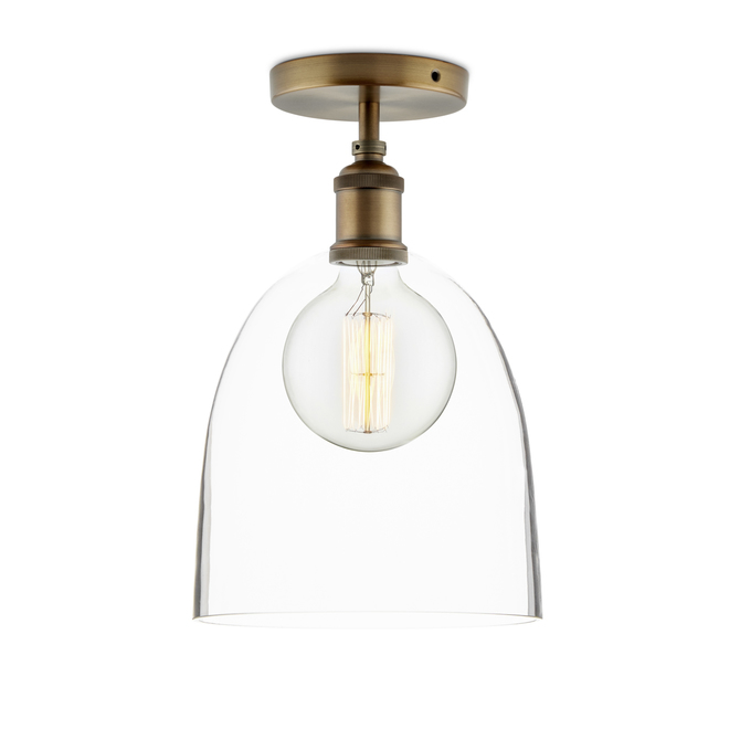 Alton Flush Mount with Chic Dome Glass, Bronze