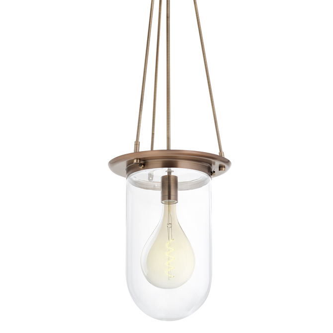 Regent Pendant with Clear Pill Shade, Bronze