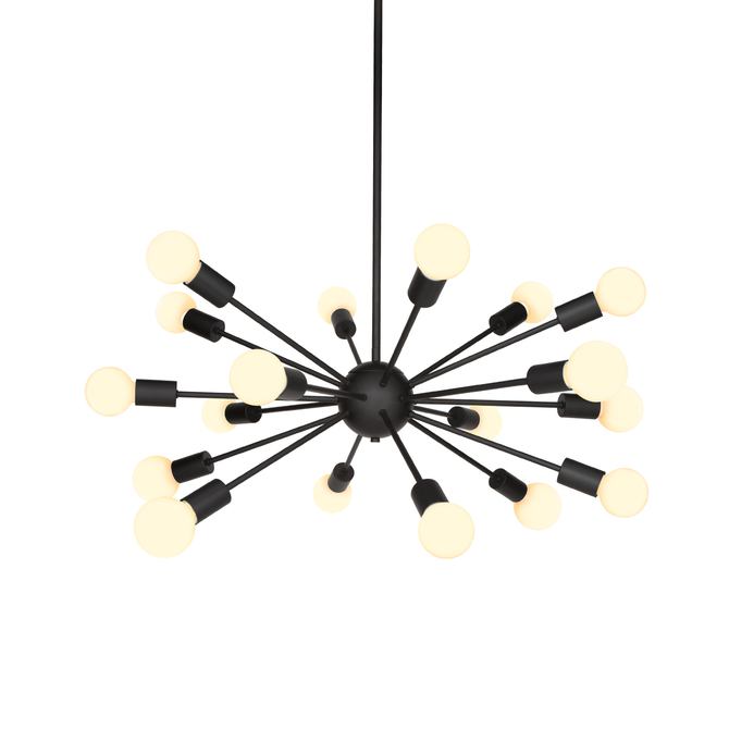 18-Light Matte Black Sputnik Chandelier