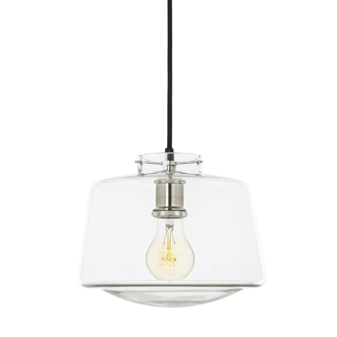 Alton Pendant with Schoolhouse Glass, Satin Nickel