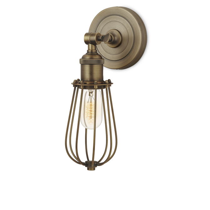Alton Wall Sconce with Raindrop Cage, Bronze