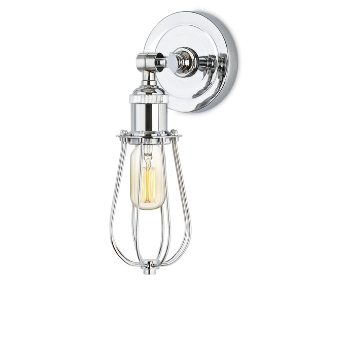Alton Wall Sconce with Raindrop Cage, Chrome